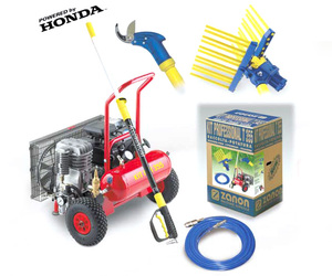 Raccolta Olive-Olive harvesting Zanon Motocompressore KIT DOUBLE 456 HN Honda